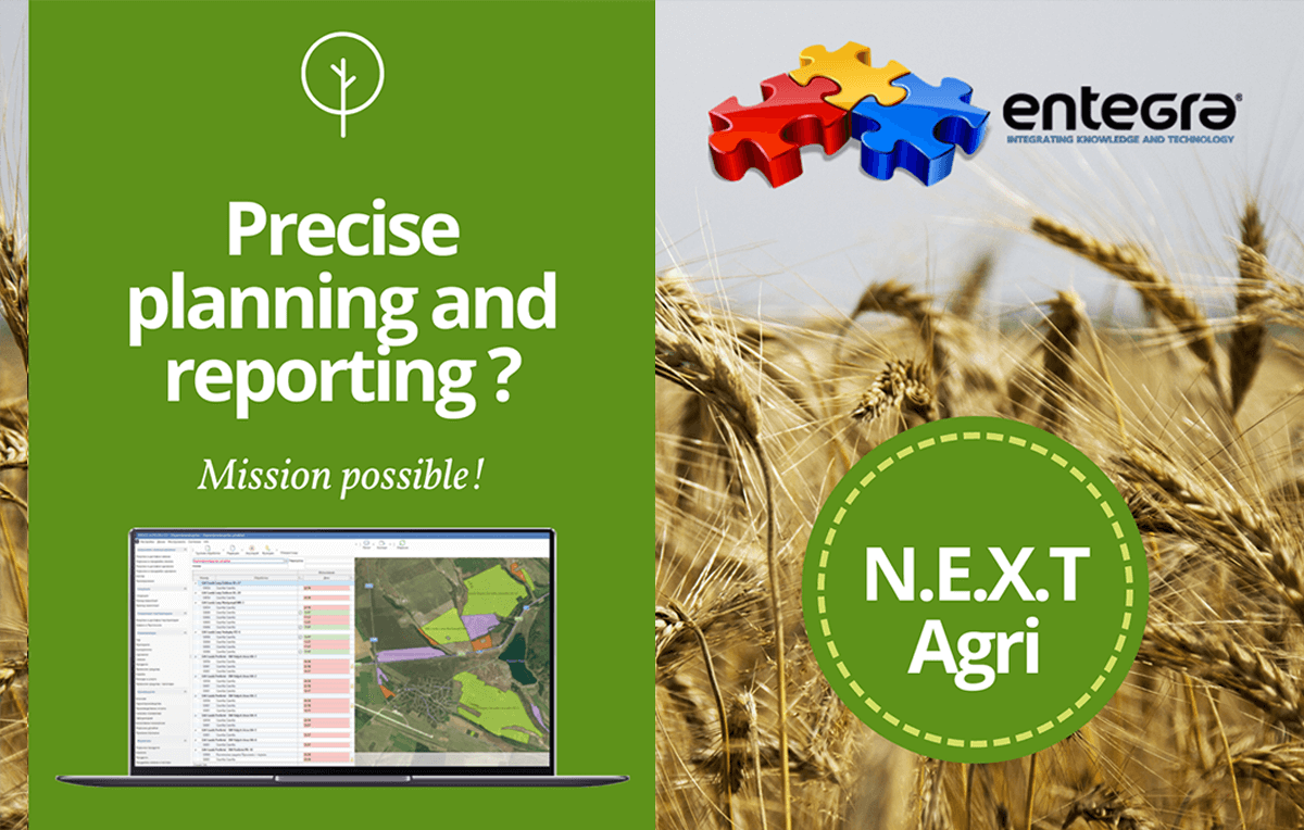 Grain producing precise planing and reporting with N.E.X.T. Agri