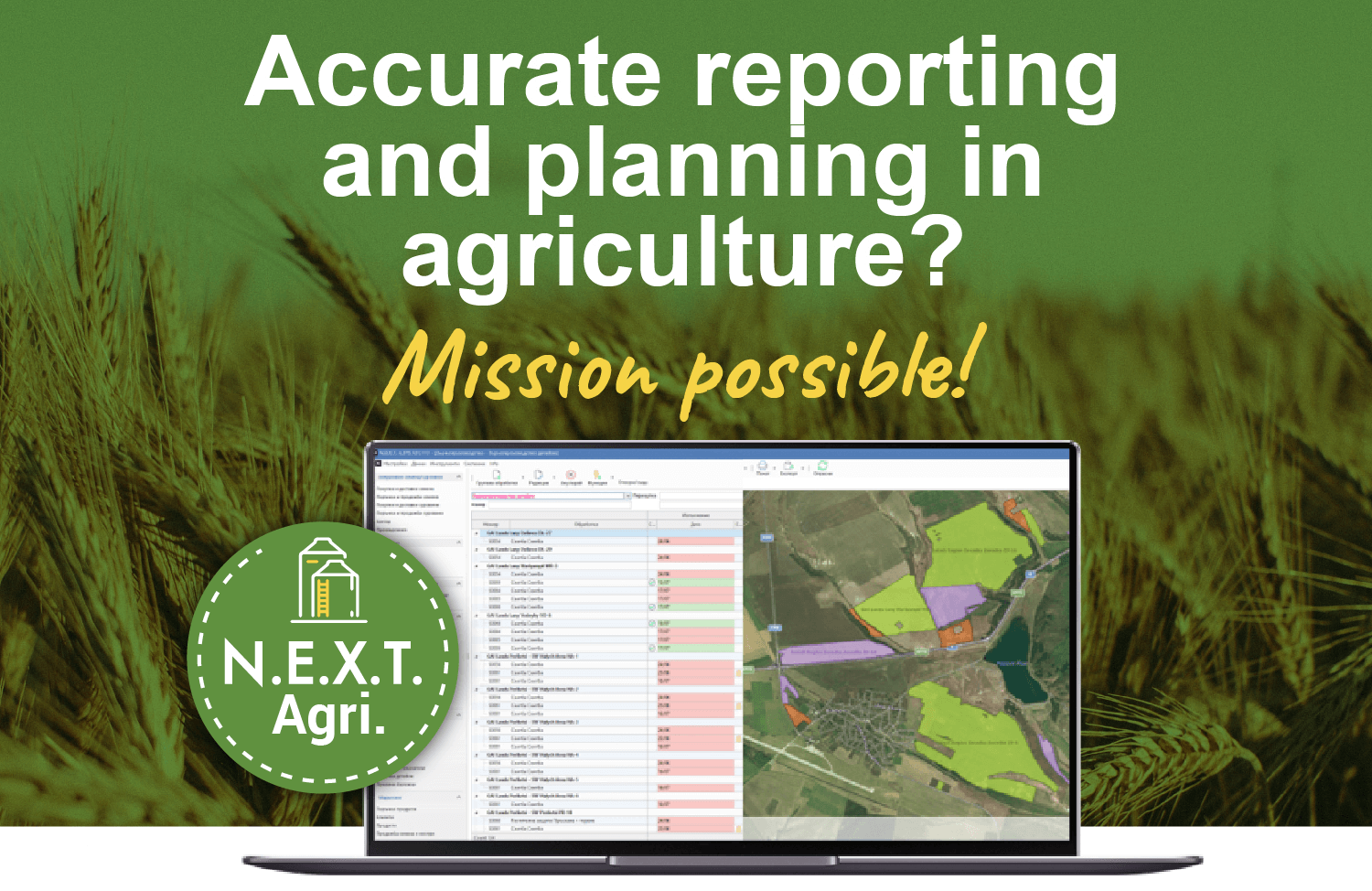 Specialized ERP software solution for agriculture and agribusiness